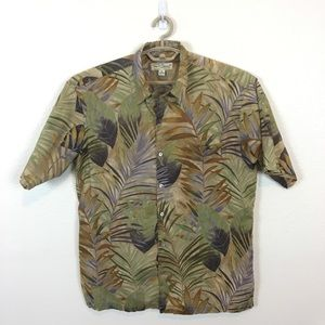 Tori Richard Made in USA Cotton Tropical Shirt L